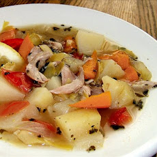 Tangy Greek Chicken Soup (Crock Pot or Not)