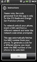 Screenshot of DroidGram Network Unlock Pro
