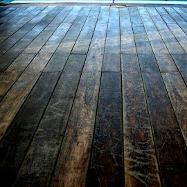 distant wooden deck by Magdalena Wysoczanska - Abstract Patterns ( natural light, distance, wooden, pattern, direction, dark, lines, deck )