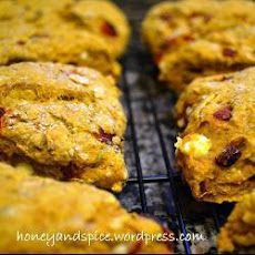 Pumpkin, Red Pepper, Feta And Sage Scones