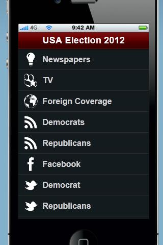 US Election 2012 News App