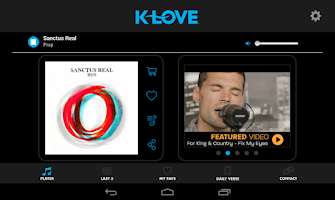 Screenshot of K-LOVE