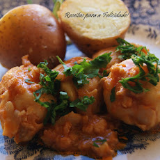 Fish Fillets with Tomato Sauce and Sauteed Potatoes