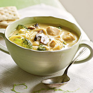 Broccoli and Chicken Noodle Soup
