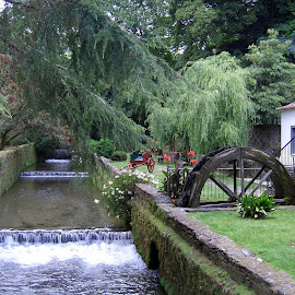 Water-mill by João Ascenso - City,  Street & Park  City Parks ( water-mill, channel )