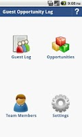 Screenshot of Guest Opportunity Log