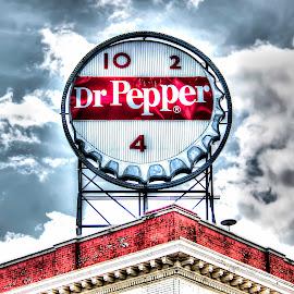 Dr. Pepper by Shawn Klawitter - Artistic Objects Signs ( sign, urban, virigina, roanoke, dr pepper )