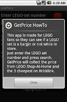 Screenshot of GetPrice