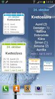 Screenshot of Meniny a mená Pro