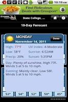 Screenshot of WSAV Weather