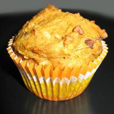 Pumpkin Coconut Muffins with Chocolate Chips