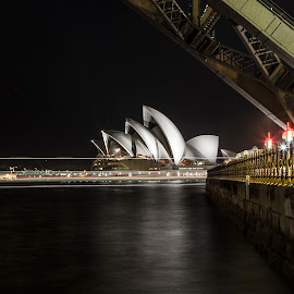 Sydney Opera House by Brenden Burkinshaw - Abstract Light Painting ( light painting, australia, opera house, sydney,  )