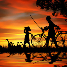 Going Home by Lucky Santika - Digital Art Places
