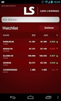 Screenshot of LANG & SCHWARZ TradeCenter