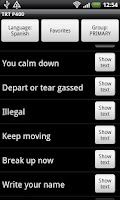 Screenshot of TRT Police Language Translator