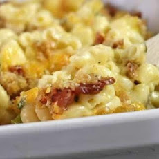 Creamy Macaroni and Cheese W/ Bleu Cheese, Bacon and Jalapenos