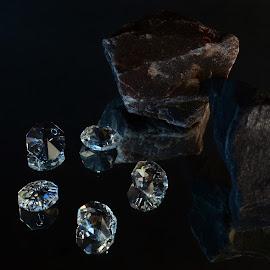 Diamonds and stones by Prasanta Das - Artistic Objects Jewelry ( diamonds, composition, stones )