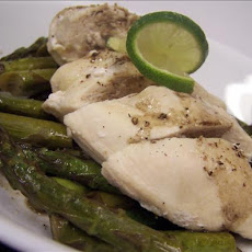Steamed Lime-And-Pepper Chicken With Glazed Asparagus
