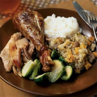 Turkey with Sausage, Apricot, and Sage Stuffing