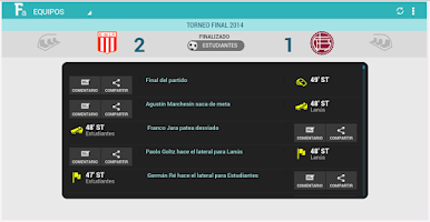 Screenshot of Fútbol Argentino Tablet