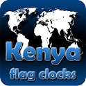 Kenya flag clocks icon