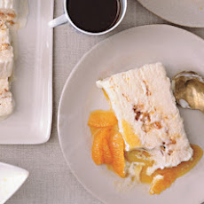 Tangerine Semifreddo with Salted Almond Brittle
