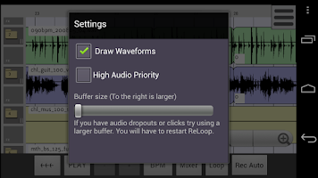 Screenshot of ReLoop Loop DAW