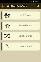 Screenshot of GRE WordPrep Vocab Flashcards