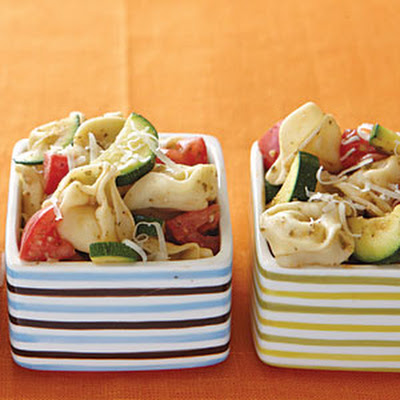 Warm Tortellini and Vegetable Salad