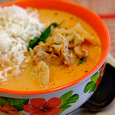 Creamy Curry Pork and Rice Bake