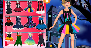Screenshot of Halloween monster dressup