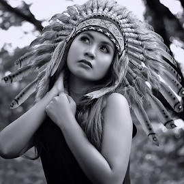 Windi by Septyadhi  Gunawan - Black & White Portraits & People ( canon, model, girl, beauty )