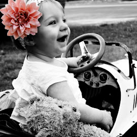 Isabell!  by Shelby Voisine - Babies & Children Babies ( pink, baby, cute, flower, selective color, pwc )