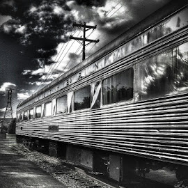 Shiny even in B&W. by Brian Schreiber - Transportation Trains
