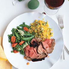Roast Leg of Lamb with Tarragon-Mint Butter