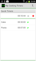 Screenshot of My Cooking Timers