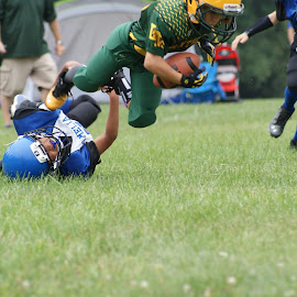 Take down by Jessica Williams Bender - Sports & Fitness American and Canadian football ( sack, youth football, football )