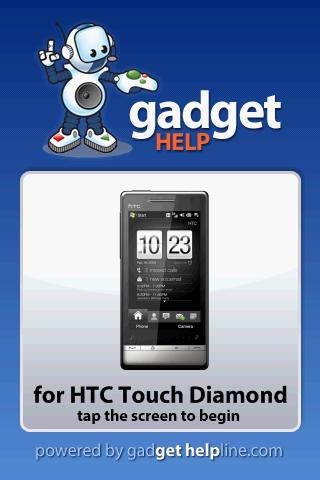 HTC Touch Diamond Gadget Help