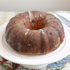 Eggnog Pound Cake with Crystal Rum Glaze