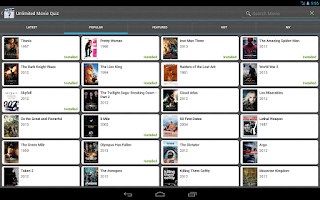 Screenshot of Unlimited Movie Quiz