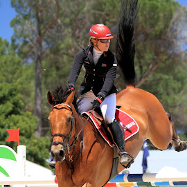Investec World Cup Qualifier-02 by Tyrone Crous - Sports & Fitness Other Sports ( rider, horse, show jumping, equestrian )