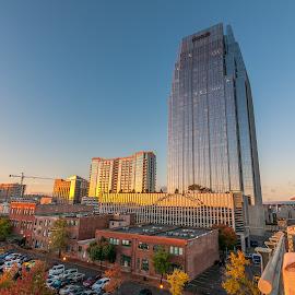 Sunrise at the Pinnacle Building by Devin Williams - City,  Street & Park  Skylines ( tn, nashville, pinnacle, sunrise, downtown )