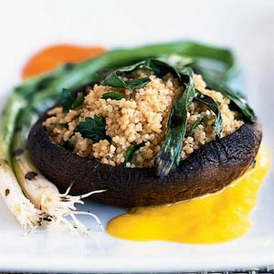 Grilled Portabellas with Couscous