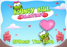 Screenshot of Bouncy Bill Valentine's Day