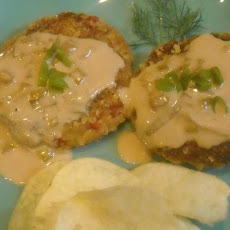 Crab Cakes With Chardonnay Cream Sauce