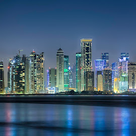 Doha Skyline Pearl View by Maria's Photoclicks - Buildings & Architecture Office Buildings & Hotels