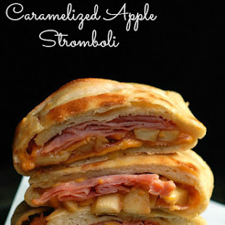 Cheddar, Ham, and Caramelized Apple Stromboli