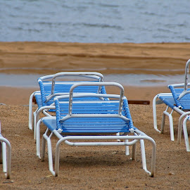 The End of Summer by Luanne Bullard Everden - Artistic Objects Furniture ( beaches, chairs, lakes, artistic, objects, lakeshores,  )