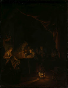 RIJKS: Gerard Dou: The Night School 1665