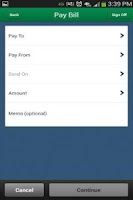 Screenshot of My FCB Mobile Banking